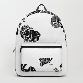World Word Map - Black and White Backpack