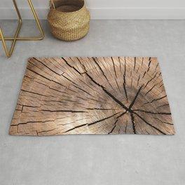 Brown Wood Rug
