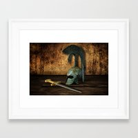 medieval Framed Art Prints featuring Medieval by David gonzalez