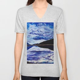 Road Trip Blues Unisex V-Neck