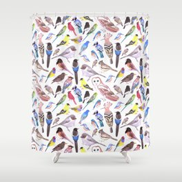 Pet and wild birds of America Shower Curtain