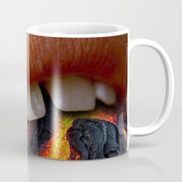 "ART WORK "" MOUTH IS A VOLCANO"" Coffee Mug"