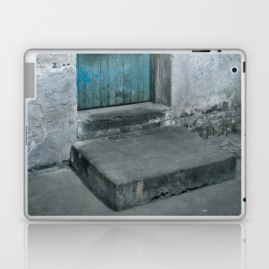 What's behind the old blue door? Laptop & iPad Skin