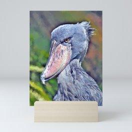 Shoebill Stork Mini Art Print