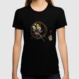 Girl Running in the Hamster Wheel T-shirt