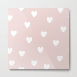Heart Patter - Baby Pattern Metal Print