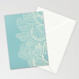 Abstract Nature In Aqua Stationery Cards