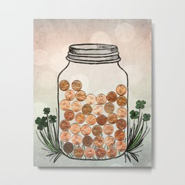 Lucky Pennies Metal Print