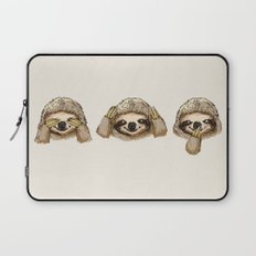No Evil Sloth Laptop Sleeve