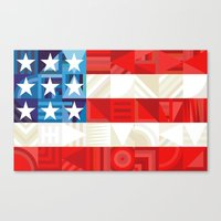 america Canvas Prints featuring America by Fimbis