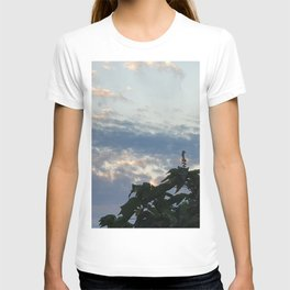 Feather cloud in the sky at sunset,Jeju Island, Korea.  T-shirt