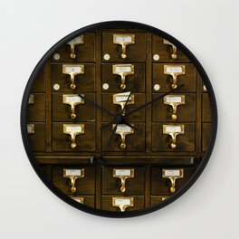 The Bank Drawers (Color) Wall Clock