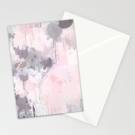 Modern Contemporary soft Pastel Pink Grey Abstract Stationery Cards