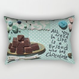 Blue chocolate Rectangular Pillow