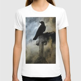 Stormy Clouds And Crow T-shirt