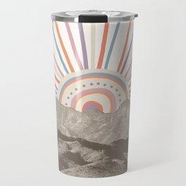Summerlin Mountain // Abstract Vintage Mountains Summer Sun Vibe Drawing Happy Wall Hanging Travel Mug