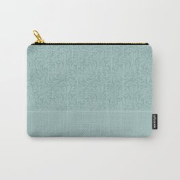 Warm , gray turquoise solid pattern . Carry-All Pouch