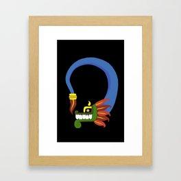 Toon Quetzalcoatl Framed Art Print