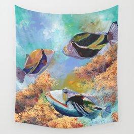 Humuhumu Tropical Fish 3 Wall Tapestry