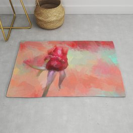 Red Rose In Spring Rug