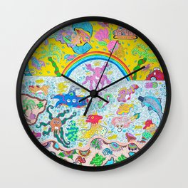 Supersonic Key West Blast Wall Clock