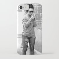 britney spears iPhone & iPod Cases featuring Britney Spears B&W by KBK24