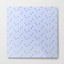 Blue Maze Metal Print
