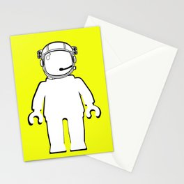 BANKSY STYLE ASTRONAUT MINIFIG by Chillee Wilson Stationery Cards