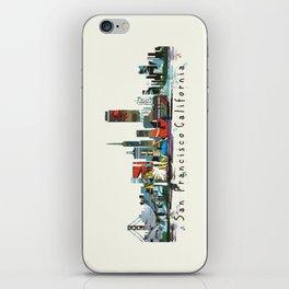 san francisco skyline comic iPhone Skin