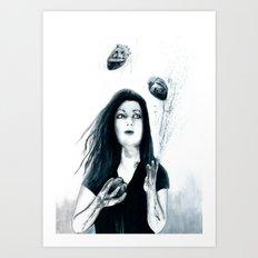 Juggling Hearts Art Print