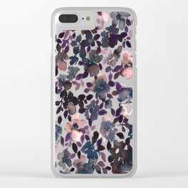Sophia Floral Dusty Pink Clear iPhone Case