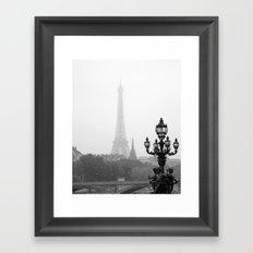 Veiled Eiffel Tower Framed Art Print