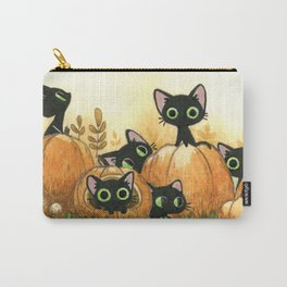 Black cats and pumpkins Carry-All Pouch