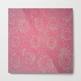 Hot Pink Rose Bed Print Metal Print