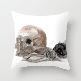 old sage's skull Throw Pillow