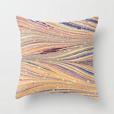 Marbled White Light Flow Throw Pillow