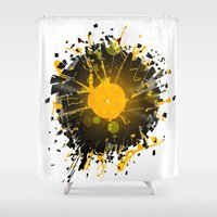 wiz khalifa Shower Curtains featuring Don't Destroy the Vinyl by Sitchko Igor