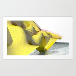 Waved yellow surface Art Print