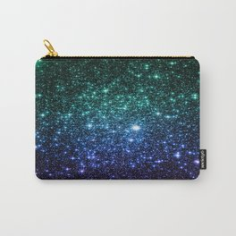 Galaxy Stars : Teal Blue Purple Carry-All Pouch