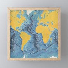 World Ocean Floor Panorama from MARIE'S OCEAN Framed Mini Art Print