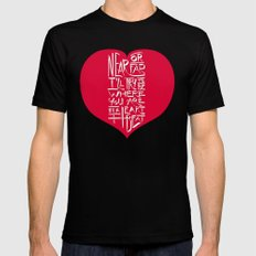 In a Heartbeat Black MEDIUM Mens Fitted Tee