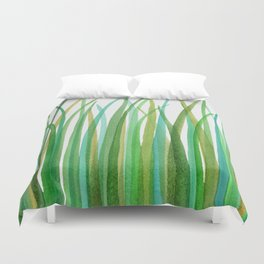 Green Grasses Duvet Cover