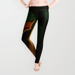 Tulips of the golden age Leggings