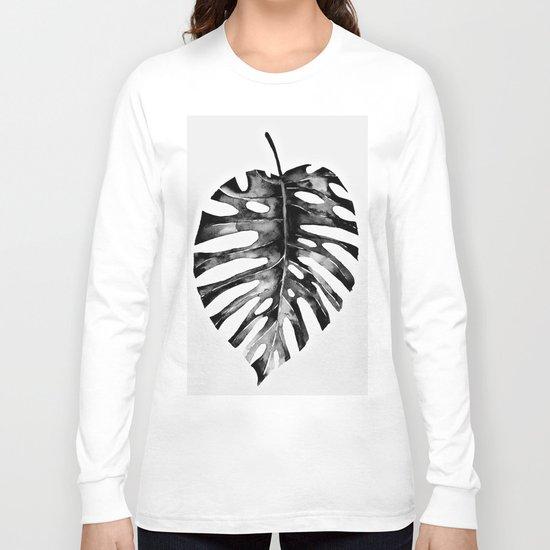 Minimal Monstera Long Sleeve T-shirt