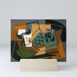 "Juan Gris ""Chessboard, Glass and Dish"" Mini Art Print"