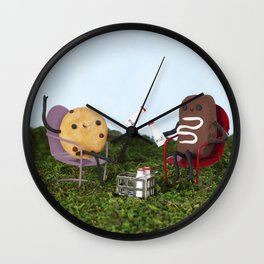 Milk and Cookie Happy Hour Wall Clock