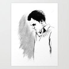 DARK COMEDIANS: John C. Reilly Art Print