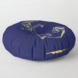 Anchor in Blue Floor Pillow