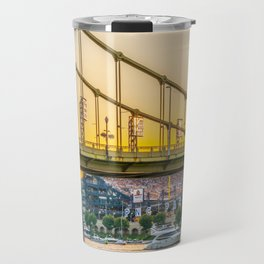 Pittsburgh Baseball Sunset Print Travel Mug