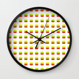 Flag of Lithuania 3– with soft squares Wall Clock